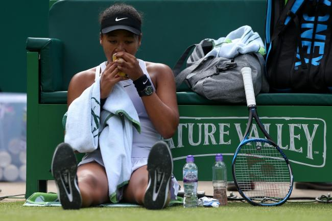 Naomi Osaka chose to sit on the court during changes of ends