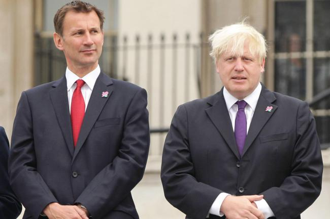 Jeremy Hunt and Boris Johnson