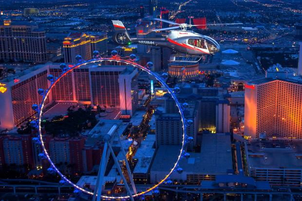 Las Vegas at night with Maverick Helicopters (Picture: T Donoghue)