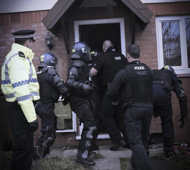 Officers raided nine homes following a 12-month covert investigation