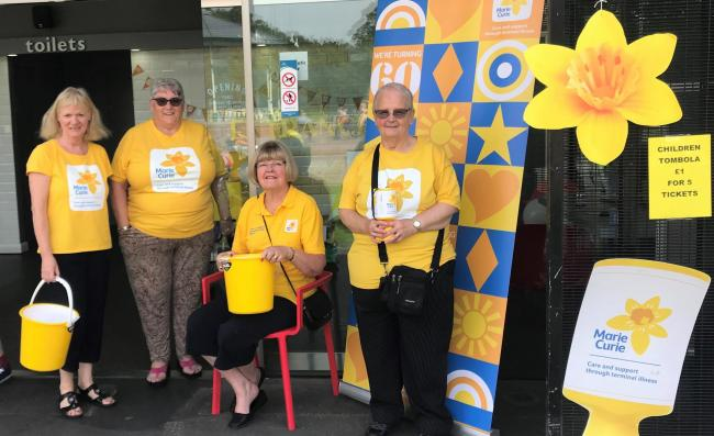 Fundraisers Margaret Shaw, Chris Grice, Lorna Cannell and Janet Jones