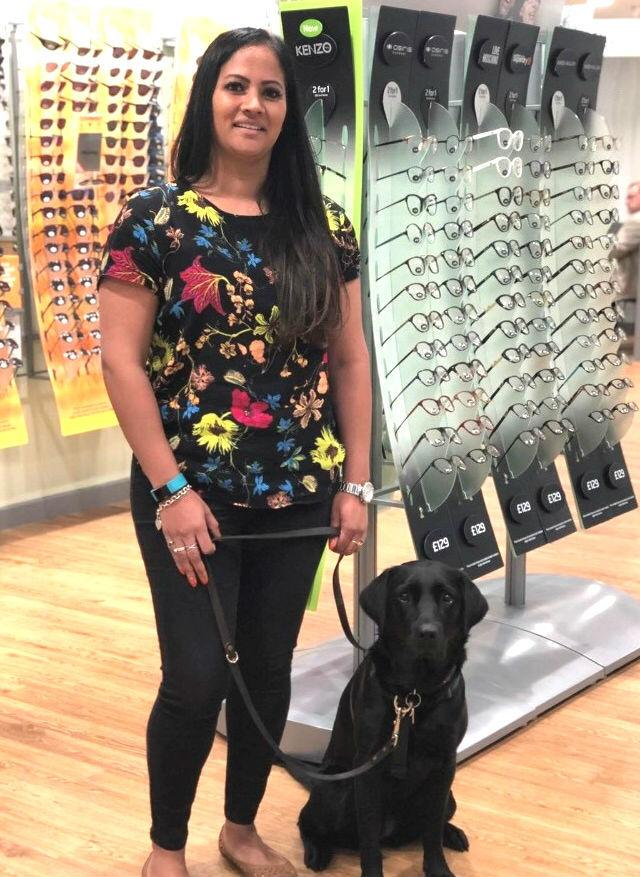 Deepal and guide dog puppy Kaysey