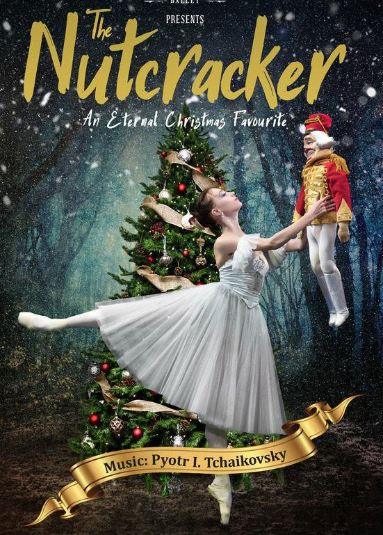 Illustration from poster for Russian National Ballet's production of The Nutcracker, which is staged at The Brindley, Runcorn, October 20