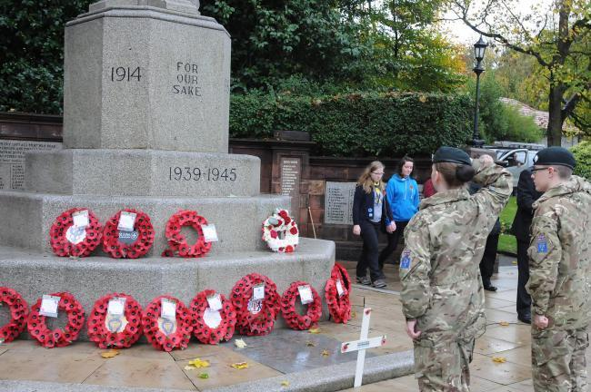 Picture from service at Runcorn war memorial