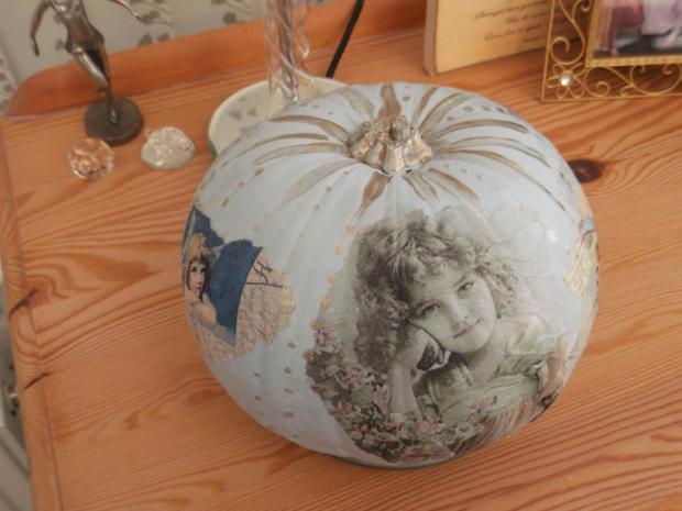 Runcorn and Widnes World: Eileen Brodie sent in this pretty pumpkin painted and decoupage