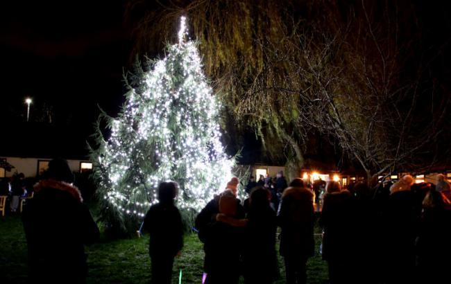 Picture from last year's Light Up A Life switch-on for Halton Haven Hospice