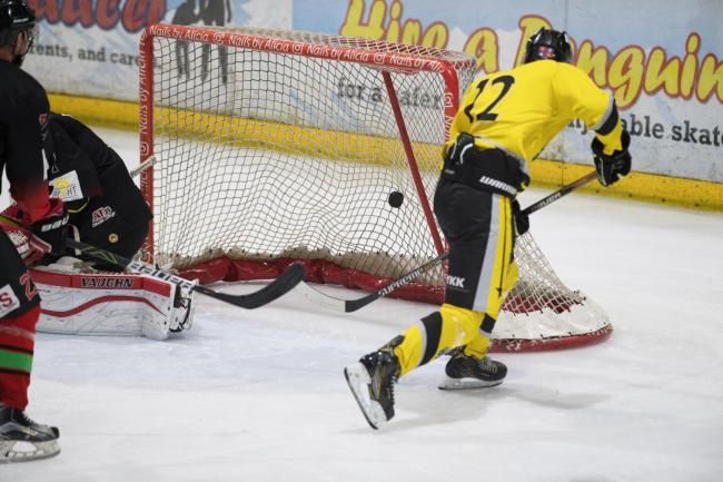 Jakub Hajek scored three goals across Widnes Wild's two games this weekend. Picture by gw-images.com