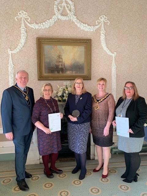 The five winners from Halton Council's registration service