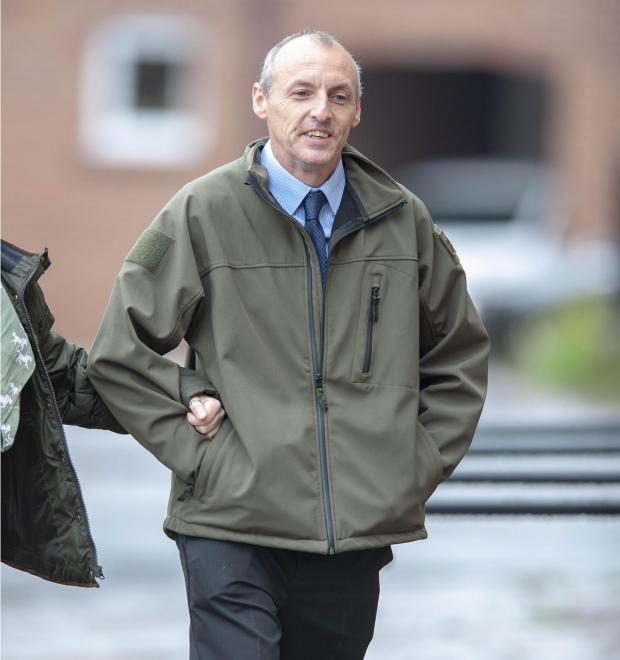 Ian Bennett arriving at Chester Crown Court. Image courtesy of Andrew Price at Viewfinder Pictures