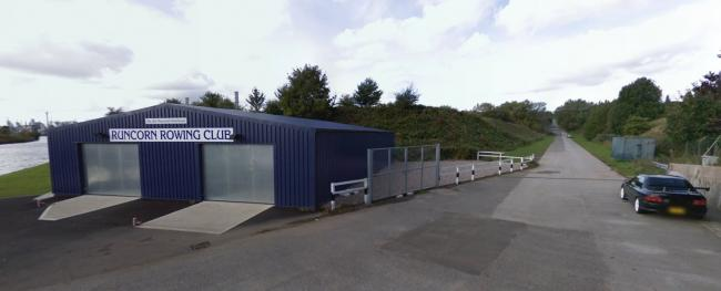 Runcorn Rowing Club, next to a field where a gas-fired power plant has been proposed. Taken from Streetview.