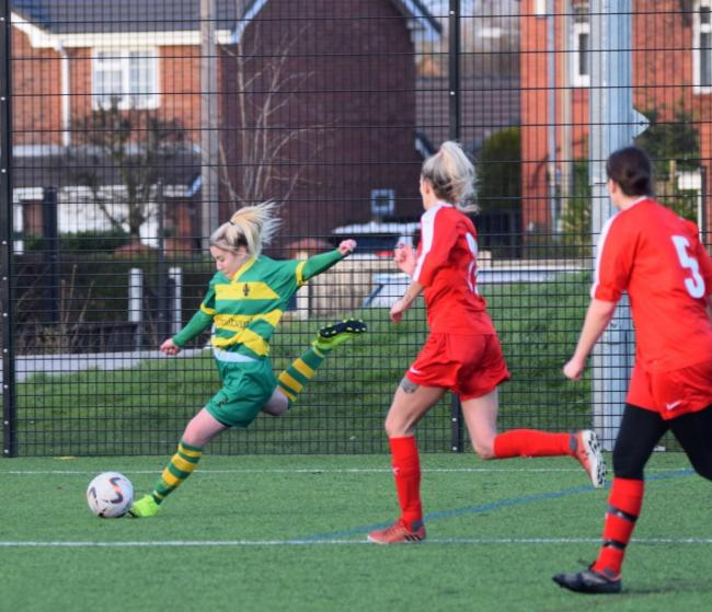 Linnets Ladies won. Pic: Neil Thornton