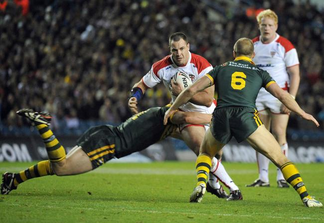 England versus Australia, a rugby league tradtion. Picture: Mike Boden
