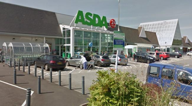 A car crashed into the Asda supermarket on West Lane in Runcorn last night. Picture by Google Maps.