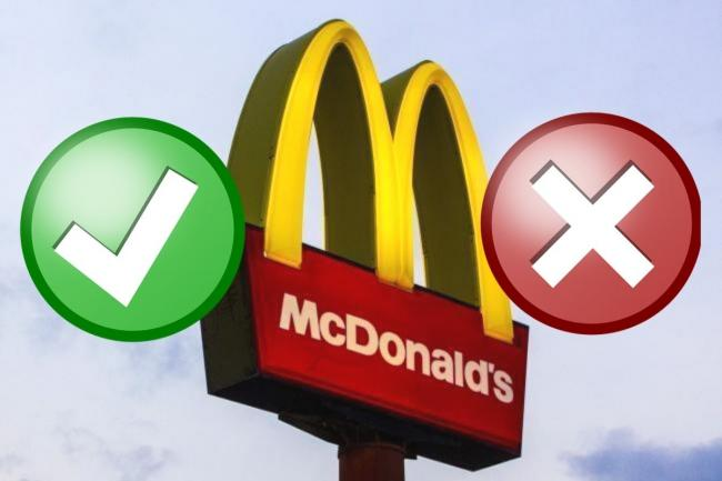McDonald's confirm new rules for those who eat in their restaurants. Picture: Newsquest