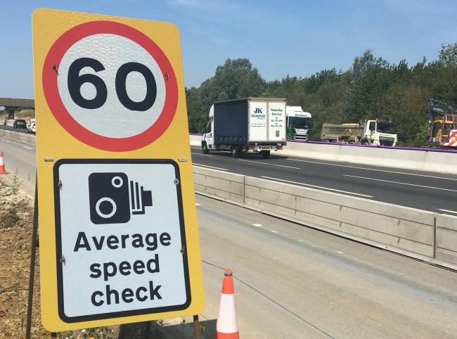 A 60mph speed limit on the M1