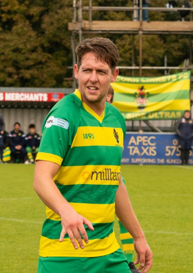 Ryan Brooke was a goalscorer for Runcorn Linnets on Saturday. Picture by Will Layton