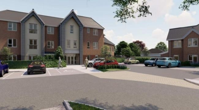 Artist\'s impression of a care home proposed for the former Greenoaks Industrial Estate in Widnes. The care home would support adults with autism and similar conditions