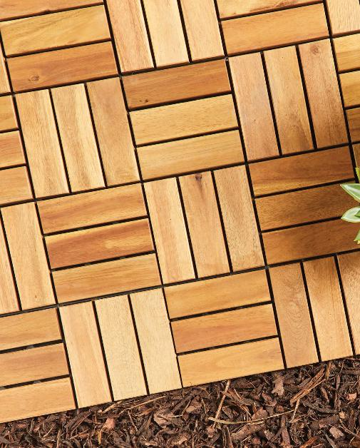 Runcorn and Widnes World: Two Direction Wooden Decking Tiles. (Aldi)