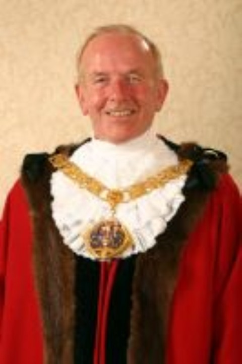 Clr John Swain when he served as Halton Mayor