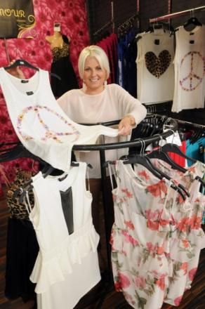 Widnes mum Jennifer Rathbone launches her new fashion business at Widnes Market