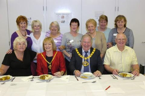 Halton's Mayor and Mayoress, Clrs Tom and Angela McInerney, with Doris Pearce, front left, and Martin Halstead, front right