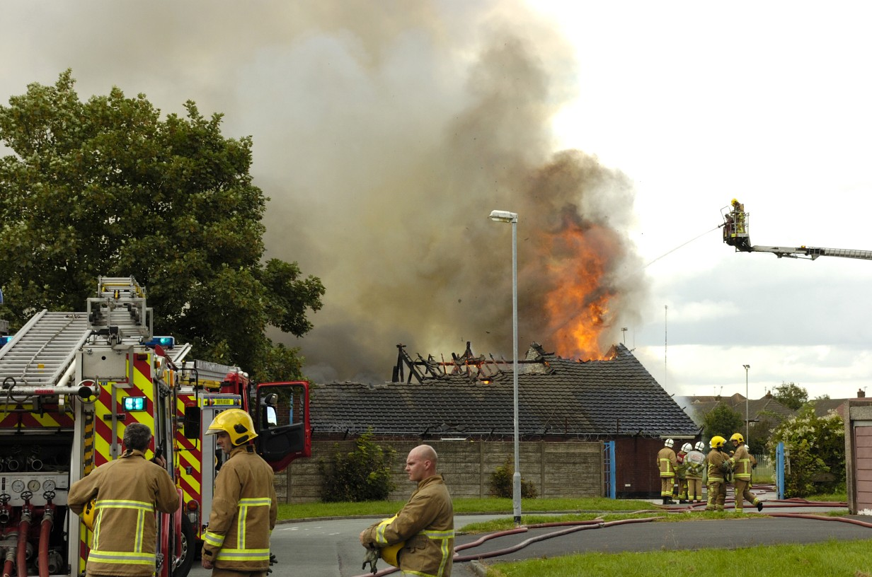 Arsonists blamed for fire