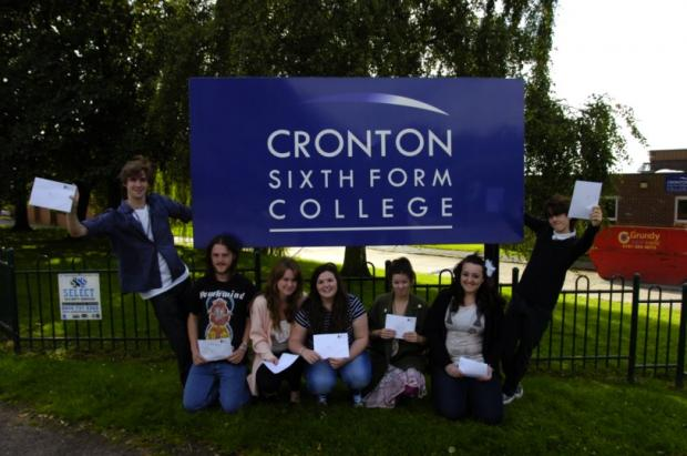 Students at Cronton Sixth Form College