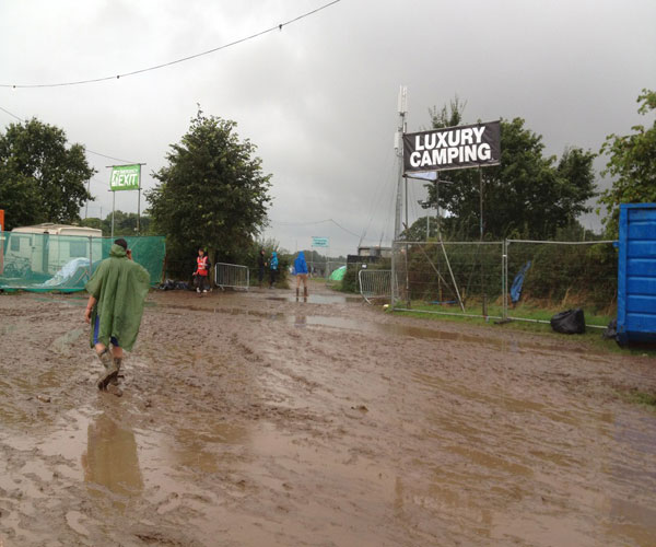 Creamfields site closed following heavy downpours