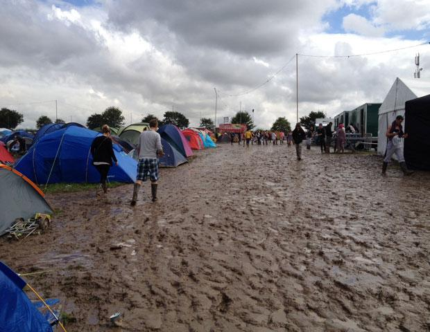 Creamfields was called off on Sunday due to poor weather