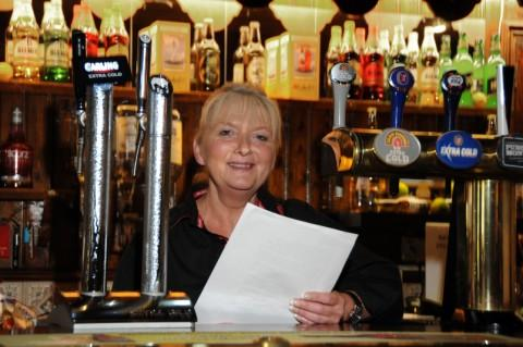 Barmaid Doreen Hands who hopes to become a children's author