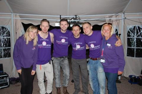 Hannah Denny, fundraising support officer and Ciaran Clotworthy, events manager with Boyzaloud