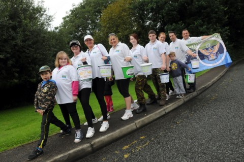 BT call centre walkers raise funds for Runcorn Veterans Association