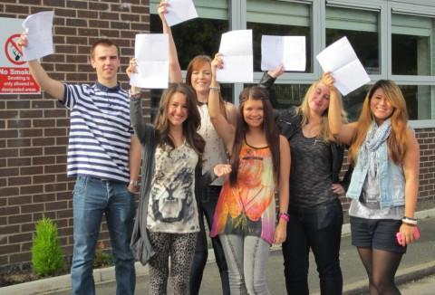 Riverside College A Level students celebrate their successful result