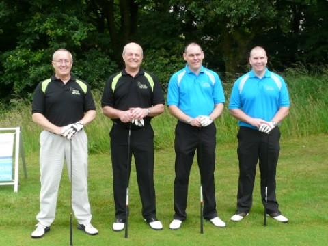 The winning team, from left, Terry Riley, Brian McAdam, Neil Wigelsworth and Ste McNorton, from Fiddler's Ferry