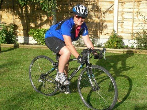 Jo Carter prepares for her cycling odysse