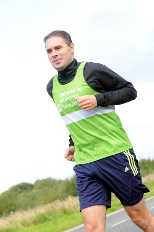 Jamie Kerr training for the Amsterdam Maratho
