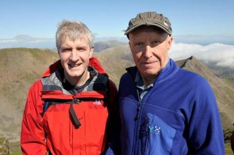 Halton MP Derek Twigg with esteemed mountaineer, Alan Hinkes, on Mount Snowdo