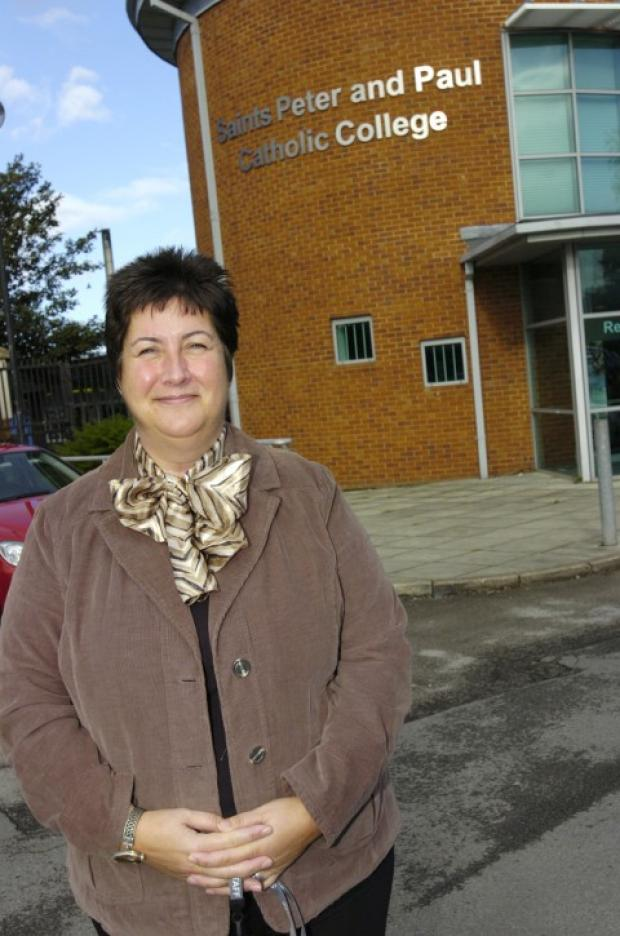 Wendy White, the new head teacher of SS Peter & Paul RC College