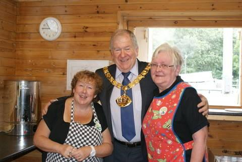 From left, Ann Smith, Halton Mayor Clr Tom McInerney and Joyce Cowley