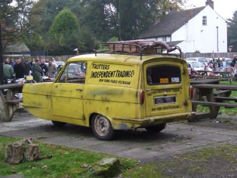 A Del Boy lookalike turned up with his three wheeler