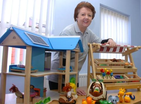 Joyce Reilly, the new toy library worker