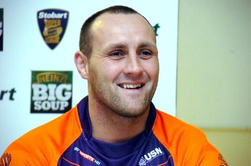 Gareth Hock in Widnes Vikings' new away shirt. Pictures by Mike Boden