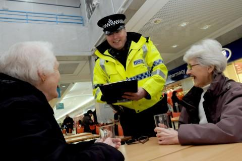 Sgt Christopher Byrne asks residents for their views on policing at Halton Lea