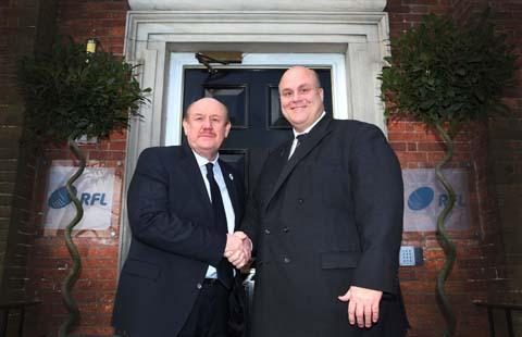 New RFL Chairman Brian Barwick, left, with RFL Chief Executive Nigel Wood