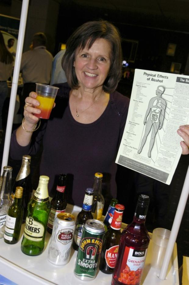 Elaine Andrews, Halton Council's road safety officer at the no alcohol bar