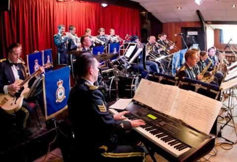 Two Royal Air Force bands come together for the first time