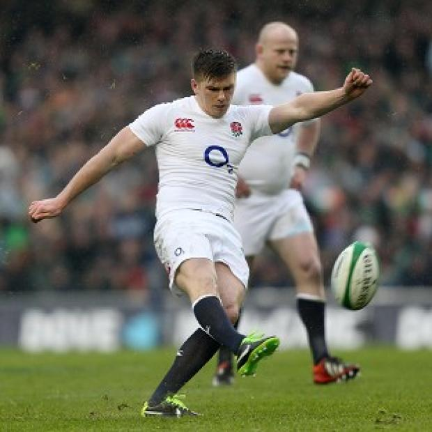 Owen Farrell scored all of England's points as they defeated Ireland in Dublin