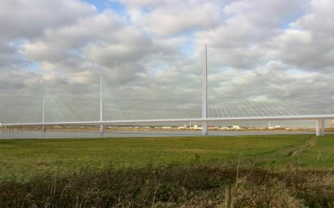Artist's impression of the Mersey Gateway