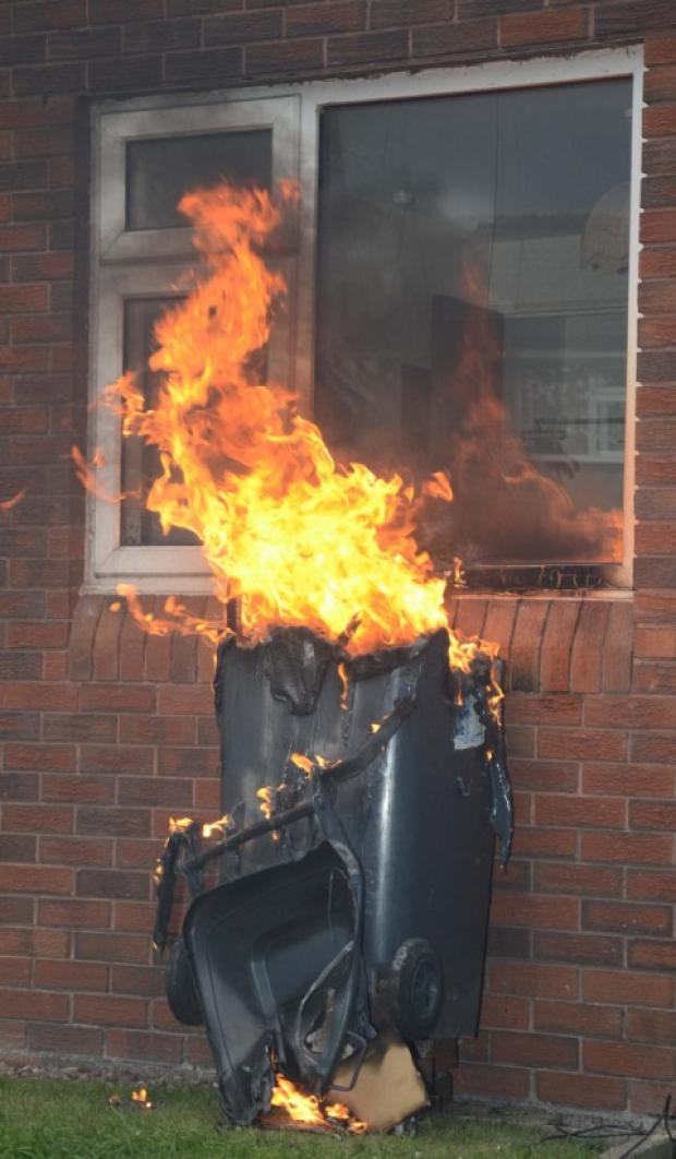 Wheelie bin fires can put lives at risk