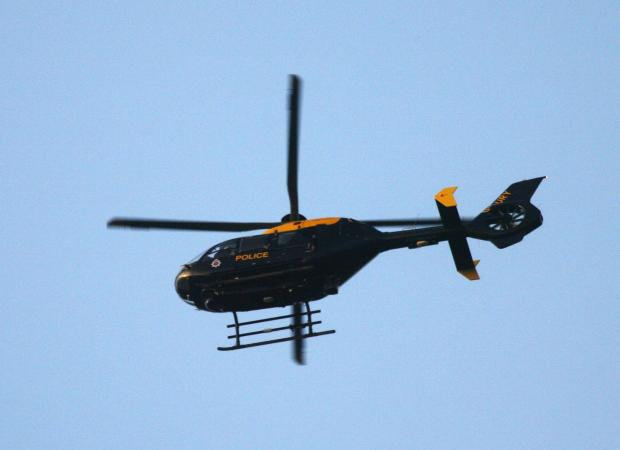 A police helicopter helped Widnes cops catch dangerous boy biker